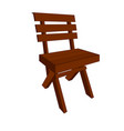 modern brown wooden chair vector image vector image