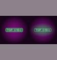 neon banner of top 10 the best vector image vector image