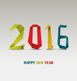 New Year card with folded colored paper template vector image vector image