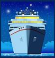 ocean liner at night vector image