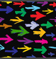 painted arrows seamless background different vector image