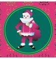 portrait of a Santa Claus posing near bag gifts vector image vector image