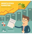 Price movement Profit graph for diagram vector image vector image