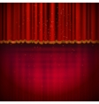 Red floor with red stage curtain vector image vector image