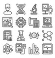 science chemistry and research icons set vector image vector image