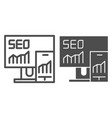 seo line and glyph icon gadgets vector image vector image
