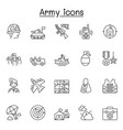 set army related line icons contains such vector image
