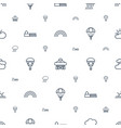 sky icons pattern seamless white background vector image vector image