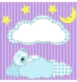 sleeping pink teddy bear vector image vector image