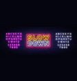 slow down neon sign slow down design vector image vector image