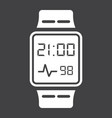 smart watch solid icon gadget and device vector image