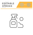 spray editable stroke line icon vector image