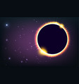 sun eclipse cosmic vector image vector image