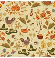 The pattern for the autumn holidays with turkey vector image vector image