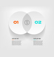 venn diagram infographics for two circle design vector image vector image