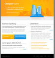 Website template with city