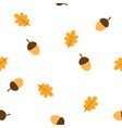 pattern with acorns and leaves vector image