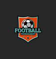 football tournament club or league sticker sport vector image