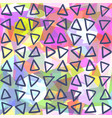 abstract seamless pattern triangles drawn on vector image