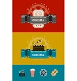Retro cinematography banners vector image