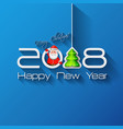 2018 origami happy new year tree vector image