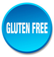 gluten free blue round flat isolated push button