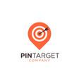 abstract pin sign symbol logo vector image vector image
