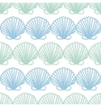 Abstract seashels stripes seamless pattern vector image vector image