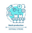 batch production blue concept icon manufacturing