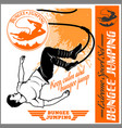 bungee jumping set - badges and monochrome vector image vector image