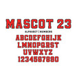 classic college font vintage sport font in vector image vector image