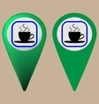Coffee map point vector image