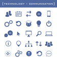 collection of business and technology icons vector image vector image