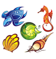 Colorful Sea animal vector image vector image