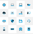 computer colorful icons set collection of vector image vector image
