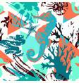 creative abstract watercolor marine seamless