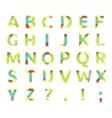 creative spectral alphabet geometric paper vector image