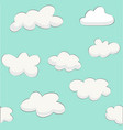 cute baby cloud pattern vector image vector image