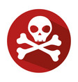 danger skull symbol icon vector image