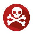 danger skull symbol icon vector image vector image