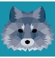 Dark blue low poly fox vector image vector image