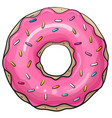 donut isolated on a white background vector image vector image