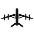 drone icon in black style vector image vector image