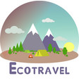 ecotravel5 vector image vector image