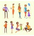 Family Cartoon Set vector image vector image