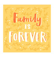family day lettring lovely calligraphy vector image vector image