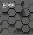 geometric hexagonal abstract background vector image vector image