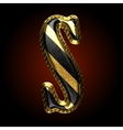 golden and black letter s vector image
