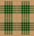 green and beige tartan plaid seamless pattern vector image vector image