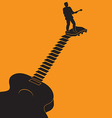 Guitar Stairs vector image vector image